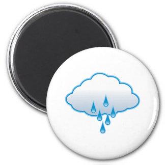 Rain Cloud 2 Inch Round Magnet