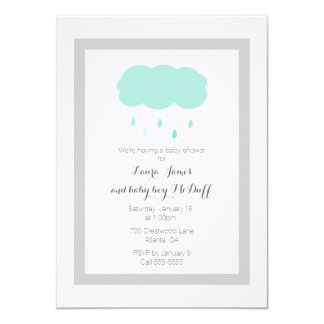 Rain Cloud Baby Shower Invitation