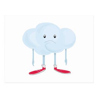 Rain Cloud Person Postcard