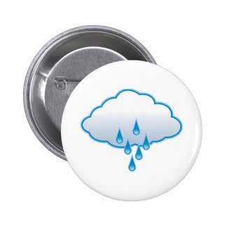 Rain Cloud Pinback Button