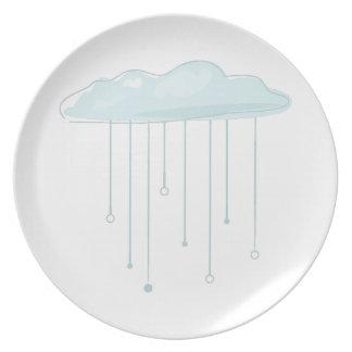 Rain Cloud Party Plate