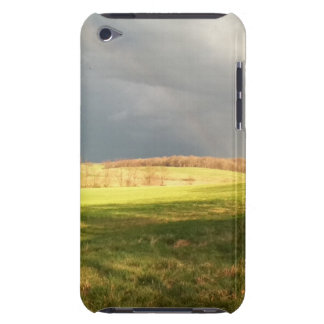rain clouds and field ipod iPod touch case