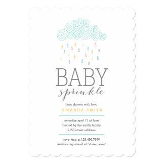 Rain Clouds Baby Shower 5x7 Paper Invitation Card