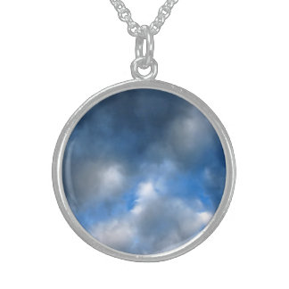 Rain Clouds Blue Skyphotography - necklace