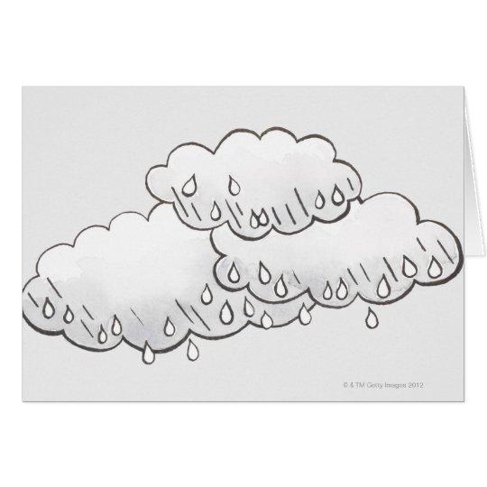 Rain Clouds Card