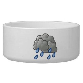Rain Clouds Dog Water Bowls