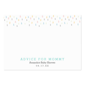 Rain Clouds   Mommy Advice Cards Large Business Card