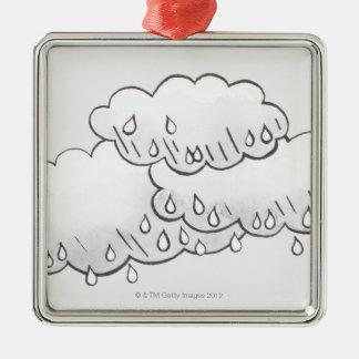 Rain Clouds Christmas Ornament