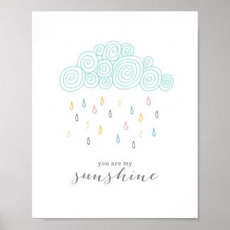 Rain Clouds Poster