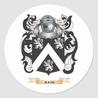 Rain Coat of Arms (Family Crest) Round Stickers