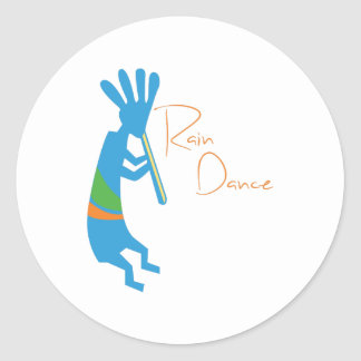 Rain Dance Classic Round Sticker