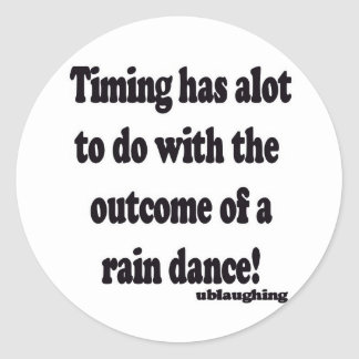 rain dance classic round sticker