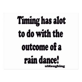 rain dance post card