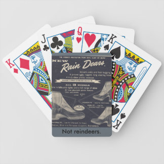 Rain Dears - Not Reindeers Bicycle Playing Cards