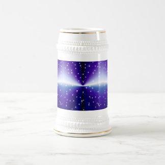 Rain drop on purple rainbow beer stein