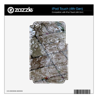 Rain Drop Ripples iPod Touch 4G Skin For iPod Touch 4G
