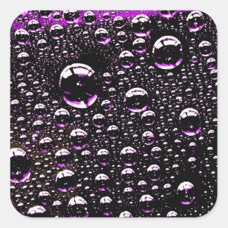 Rain Drop Square Sticker