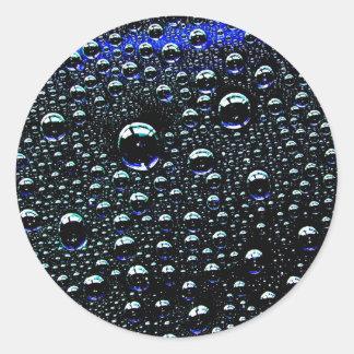 Rain Drop Classic Round Sticker