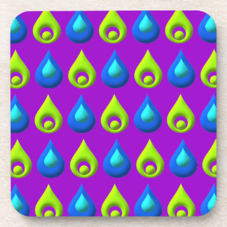 Rain Drop Style Pattern Design Drink Coaster