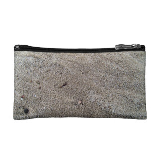 Rain Drop Traces On Sand Makeup Bag