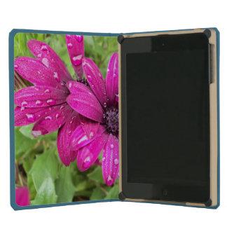 Rain Droplets on Purple Daisies iPad Mini Case
