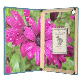 Rain Droplets on Purple Daisies iPad Air Case