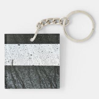 Rain drops acrylic keychains