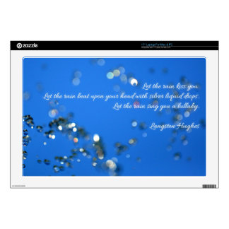 """Rain Drops and Poetry Decals For 17"""" Laptops"""