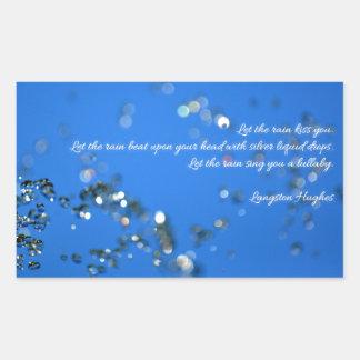 Rain Drops and Poetry Rectangular Sticker