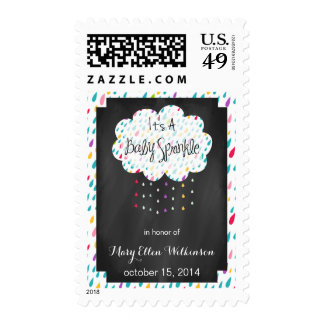 Rain Drops Baby Sprinkle Personalized Postage