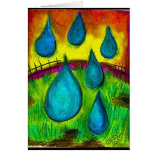 Rain Drops Card