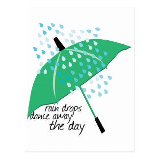 Rain Drops Dance Postcard