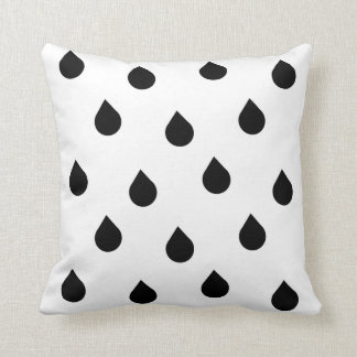 rain drops of black blank throw pillow