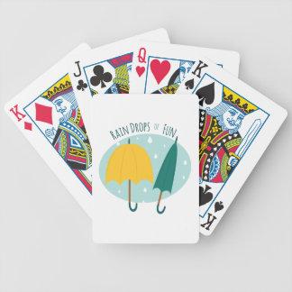 Rain Drops of Fun Bicycle Playing Cards