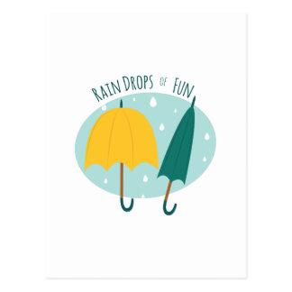 Rain Drops of Fun Postcard
