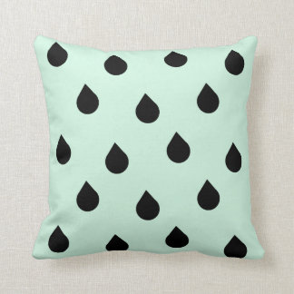 rain drops of gentle greenness throw pillow