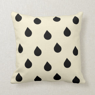 rain drops of gentle yellow throw pillow