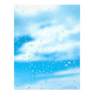 Rain drops on a window glass flyer