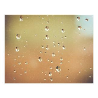 """Rain drops on a window macro 8.5"""" x 11"""" flyer"""
