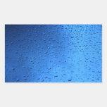Rain Drops on Blue Glass Stickers