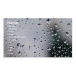 Rain Drops on glass Business card profile card