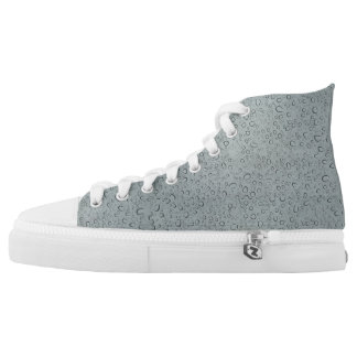 Rain drops on gray back ground High-Top sneakers
