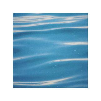 Rain Drops on Lake Michigan Canvas Print