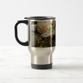 Rain Drops on Leaf Travel Mug
