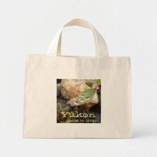 Rain Drops on Leaf; Yukon Territory Souvenir Mini Tote Bag