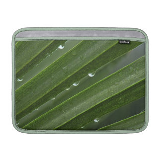 Rain Drops on Palm Frond MacBook Air Sleeve