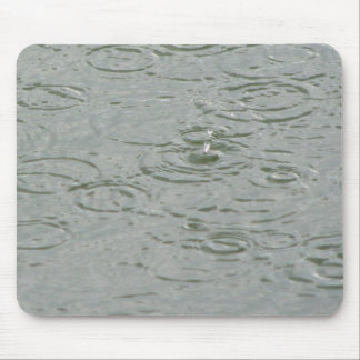 Rain Drops on the Lake Mouse Pad