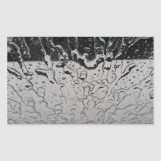 Rain drops on the window rectangular sticker