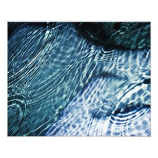 Rain drops on water photo print