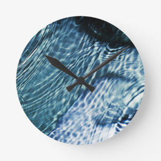 Rain drops on water round clock